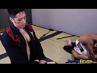 PETERFEVER Young Gaysian Fu Hammered by Muscular Teacher