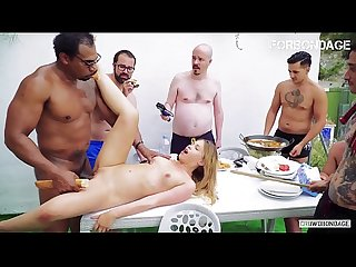 FORBONDAGE - Russian Blondie Selvaggia Public Humiliated And Fucked