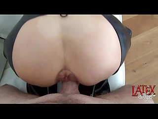 Female anal pumping and assfucking by latexangel