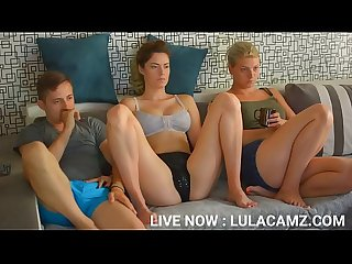 LULACUM69 TOOK HIS DICK OUT AND RUBBED JUST BESIDE HER SISTER