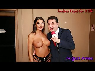 August Ames gives a blowjob lesson for Andrea Dipr�