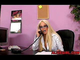 Sexy adult star Gina lynn fucks with lucky guy in the office alivegirl com