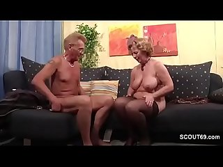 Grandma in Stockings hard fucked by Grandpa with Facial