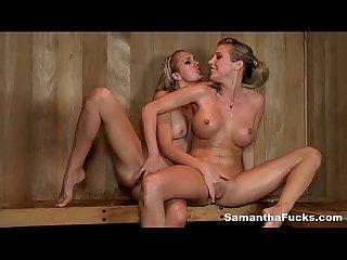 Sauna lesbians