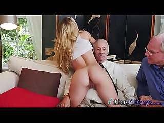 Hot College Babe Molly Mae Spreads Shaved Twat For Pensioners