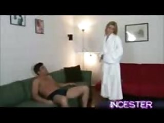 Horny Mom Helps Son