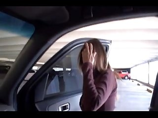 Hotwiferio cute wifey doing handjob for stranger on the backseat of husbands car