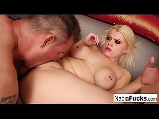 Blonde babe nadia fucks her shy and nerdy neighbor