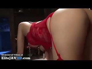 Japanese hottest slave in red stockings more at elitejavhd com