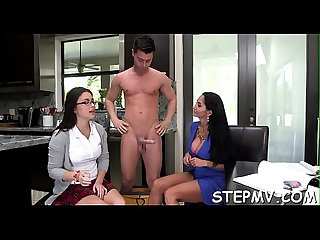 Astonishing stepmom fucks