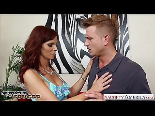 Busty brunette cougar syren de mer take cock