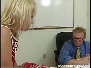 Sweet blonde girl does alot of sucking and fucking