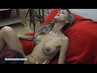 Skinny MILF lapdances, gives BJ and fucks in few positions