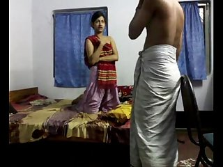 bengali Hot couple homemade sex scandal on bedroom - Wowmoyback