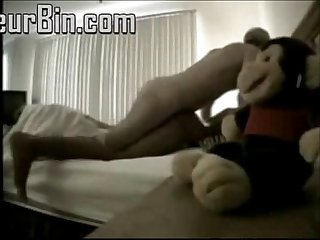 Old man Fucking Young slut hard bed pounding feet foot