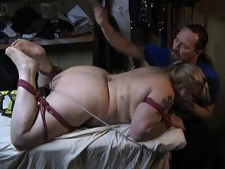 Red rope fucking machine noose fuck and strangle preview
