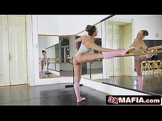 Sweet ballerina blue angel loves two things ballet cock