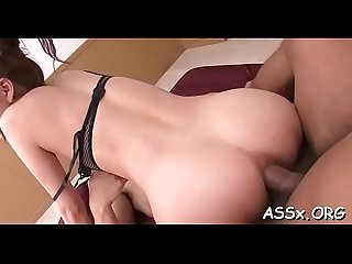 Asian honey enjoys wild anal toying and coarse doggystyle sex