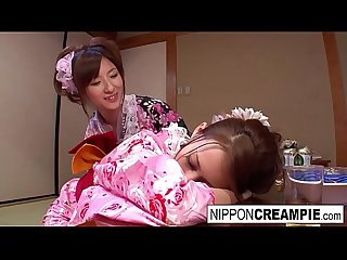 Japanese geisha gets fucked while her girlfriend is asleep