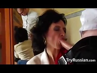 Mature russian anal fucked by younger guy