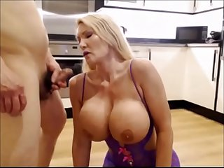 Milf slut fucked on the kitchen floor milfintros period com