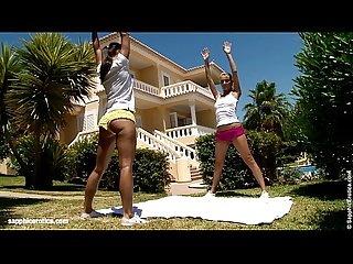 Sporty Seduction by sapphic erotica sensual lesbian sex scene with Lena and ka