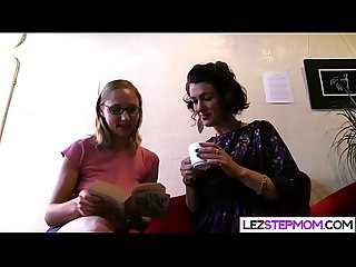 Hairy mom eats stepdaughters hairy pussy