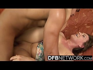 Mature women hardcore interracial fucked in pussy and ass swallows black man cum