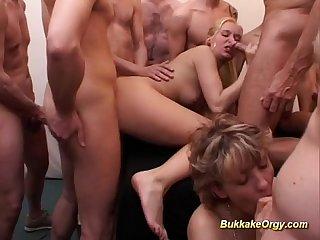 German Bukkake Gangbang Orgy
