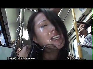 Pandilla abusa de chicas asiaticas en un bus publico