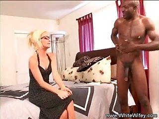 White blonde wifey anal bbc