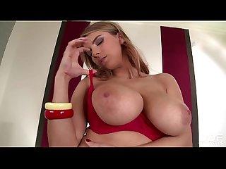 Gorgeous czech pornstar katerina hartlova titty sucking her own big boobs