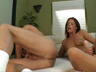 Wife fucks husband S ass