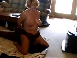 Mature wife rides her black boyfriend s face