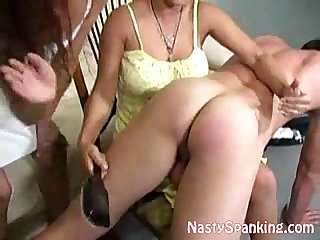 Guy getting his ass spanked