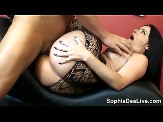 Sophie Dee rides a big cock