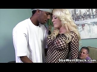 Helly mae hellfire makes her cuckold husband watch her fuck a black cock
