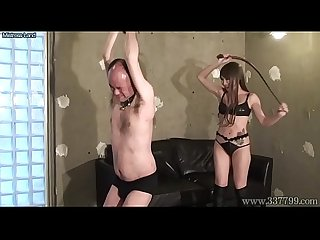 Japanese femdom lum trampling and hard whipping