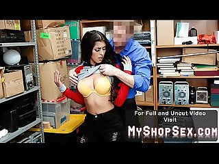 Busty Girl in Hijab Fucked Hard By Lp Officer for Shoplifting