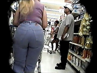 Candid booty jeans and boots a little bit bcountry long ponytail