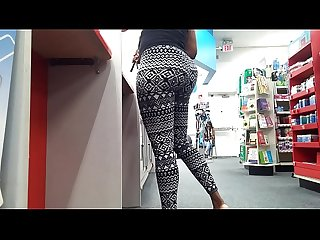 Ebony milf at cvs pharmacy in tights