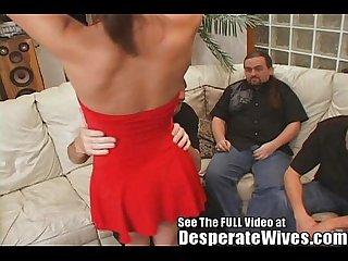 Hot brunette slut wife training