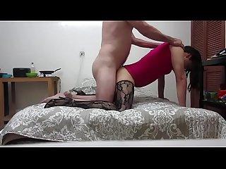 Diana travesti lenceria medias caladas