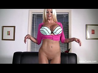 Nikita von james plays with herself