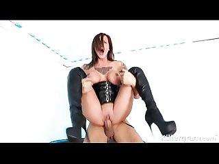 Hot babe chantelle fox is a sub slut gagging for big fat cock
