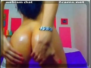Watch this Sexy latina Teen Masterbating with Dildo on her Webcam