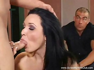 Brunette milf wants hubby happy