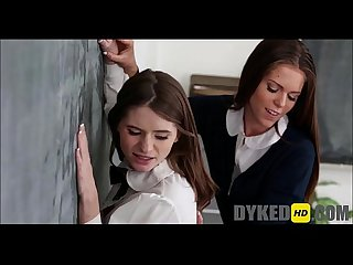 Two girls fuck the new girl at school dykedhd com