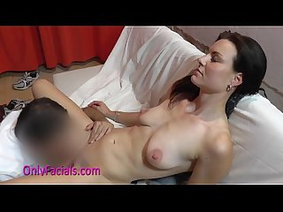 Licking pussy fuck and big facial for wild czech amateur