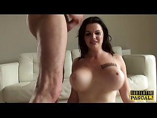 Curvy British MILF submitted into roughsex